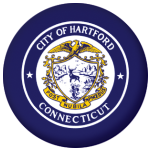 Hartford (Connecticut) Flag 58mm Mirror Keyring